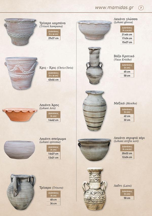 Κεραμικά Μαρούσι, Κατάλογος προϊόντων